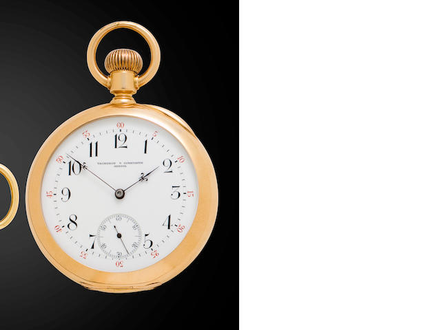 Vacheron & Constantin. A fine 18K rose gold keyless lever watchMovement no. 263546, circa 1900