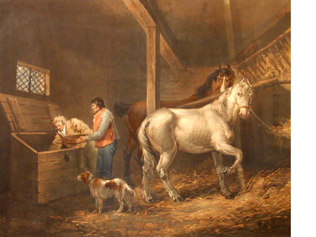 John Raphael Smith (British, 1752-1812); after George Morland No.7, The Corn Bin;