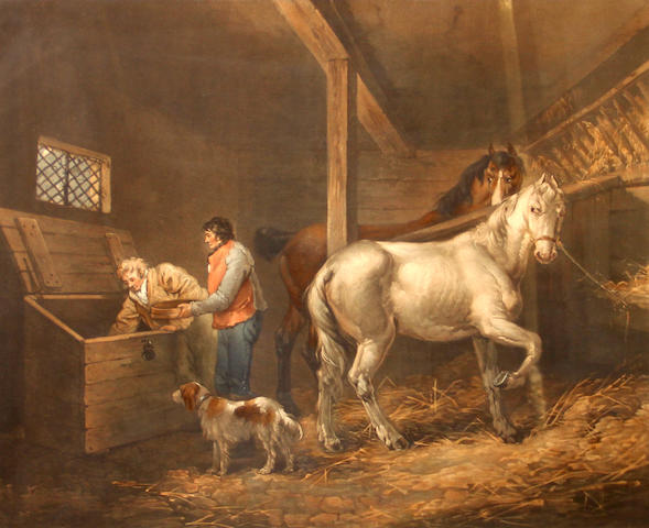 John Raphael Smith (British, 1752-1812); after George Morland No.7, The Corn Bin;