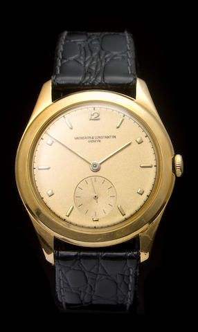 Vacheron & Constantin. A fine 18K rose gold commemorative wristwatchJubilé, Ref: 4600, Case no. 316769, Movement no. 484859, 1949