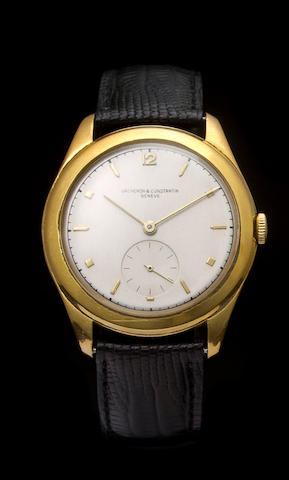 Vacheron & Constantin. A fine 18K yellow gold commemorative wristwatchJubilé, Ref: 4600, Case no. 317251, Movement no. 485179, 1949