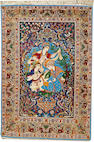 An Isphahan rug  South Central Persia size approximately 3ft. 8in. x 5ft. 3in.