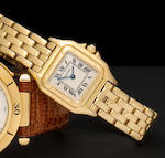 Cartier. An 18K gold bracelet watch Panthère, Ref: 107000M/001851