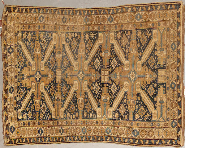 A Kuba rug size approximately 5ft. 5in. x 4ft.