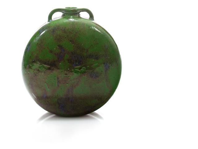 A Henri Simmen glazed stoneware two-handled vase circa 1911