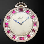 Vacheron & Constantin. A gem set platinum Art Deco dress watchMovement no. 305103