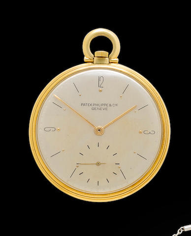Patek Philippe. A fine 18K gold Art Deco dress watchCase no. 645876, Movement no. 891256, circa 1945