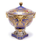 A Continental porcelain covered potpourri vase