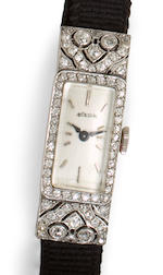 Gubelin. A fine platinum and diamond lady's watch2nd quarter 20th century