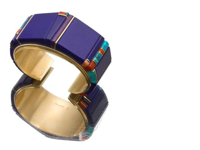 A Hopi gold bracelet