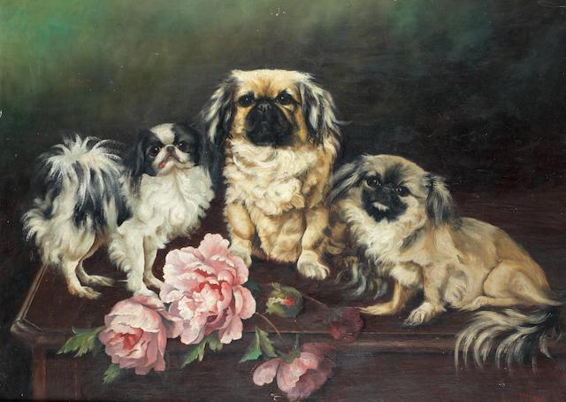 Ada Milner (British, early 20th century) The trio 21 1/4 x 29 in. (54 x 73.5 cm.)