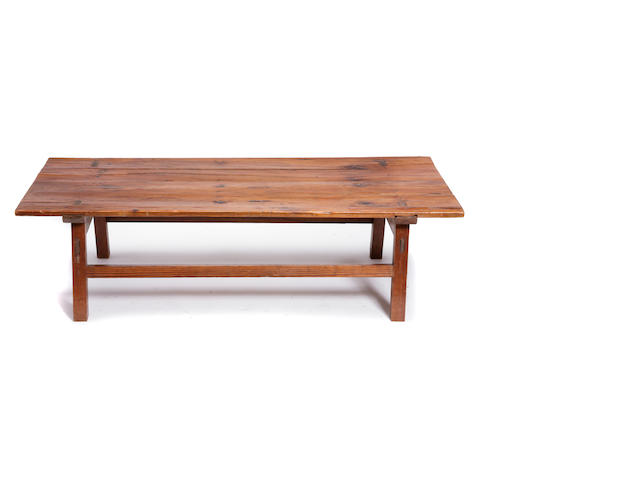 A Continental Baroque style pine low occasional table