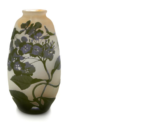 A Gallé cameo glass vase circa 1900
