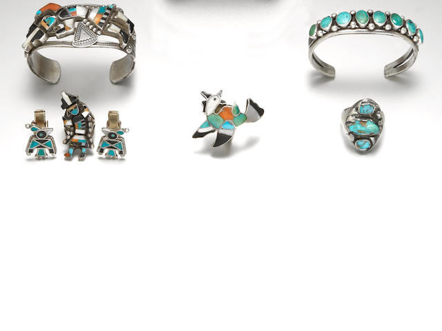 Six Southwest jewelry items