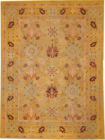 An Agra carpet  India size approximately 8ft. 8in. x 11ft. 9in.