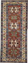 A Lesghi runner  Caucasus size approximately 3ft. 7in. x 9ft. 1in.