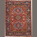 A Heriz rug  Northwest Persia size approximately 4ft. 6in. x 6ft. 2in.
