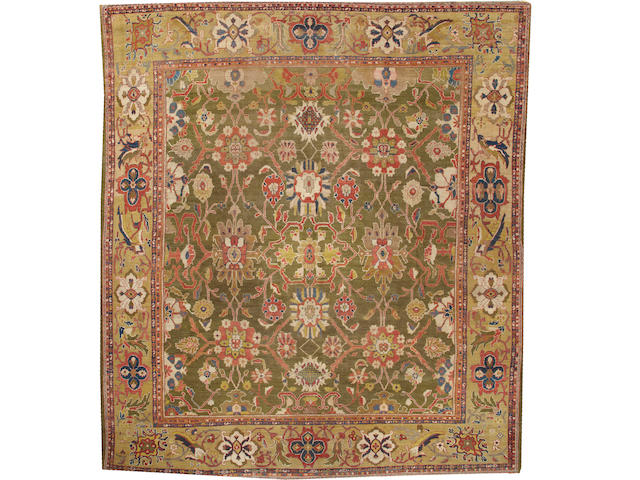 A Sultanabad carpet  Central Persia size approximately 12ft. 3in. x 14ft.