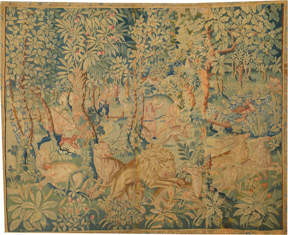 A French Tapestry France size approximately 6ft. 10in. x 8ft. 5in.