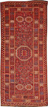 A Beshir long carpet  Turkestan size approximately 5ft. 5in. x 11ft. 11in.