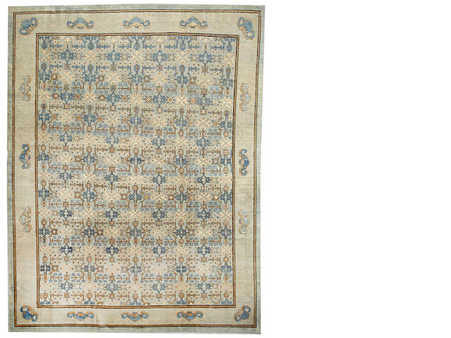 A Khotan carpet  Turkestan size approximately 11ft. 8in. x 15ft.