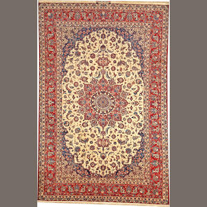 An Isphahan long carpet  South Central Persia size approximately 6ft. 8in. x 10ft. 4in.
