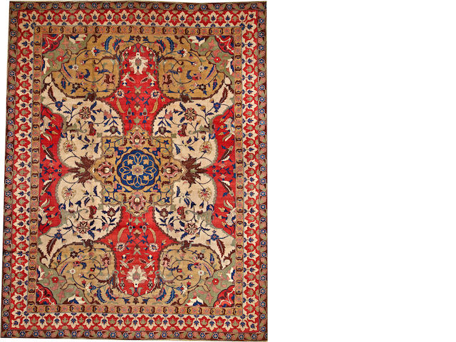 A Tabriz carpet  Northwest Persia size approximately 10ft. x 13ft.
