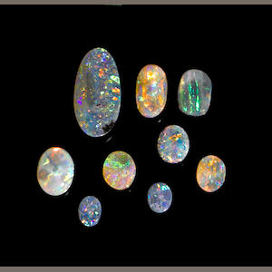 Group of Boulder Opals