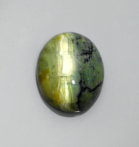 Brazilian Cat's Eye Opal Cabochon