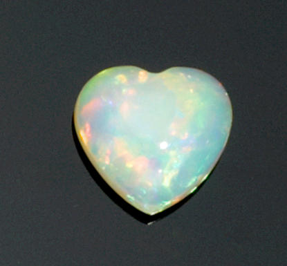 unique Heart-Shaped Crystal Opal