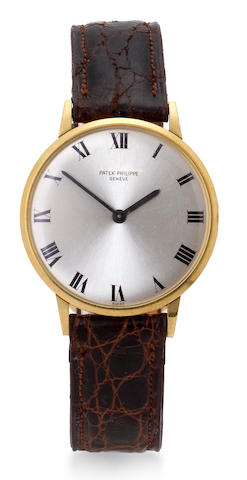 Patek Philippe. A fine 18K gold wristwatchRef:3468, Case no. 2628474, Movement no. 789740, circa 1963