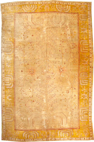 An Oushak rug West Anatolia size approximately 11ft. 7in. x 17ft. 4in.