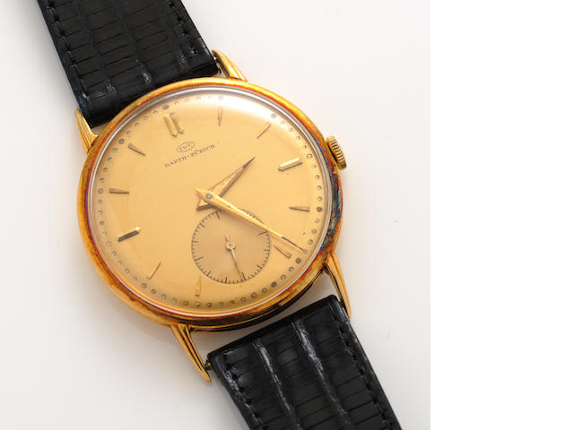 An eighteen karat gold strap wristwatch, IWC