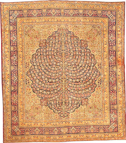 A Kerman carpet South Central Persia size approximately 9ft. 8in. x 11ft. 3in.