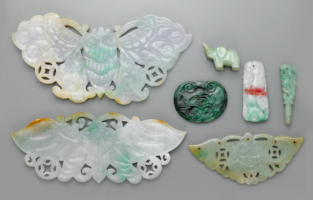 Group of Carved Jadeites