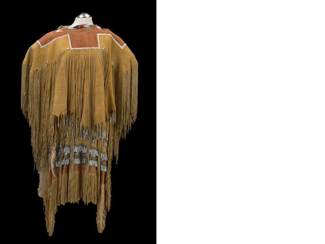 An Apache beaded puberty dress