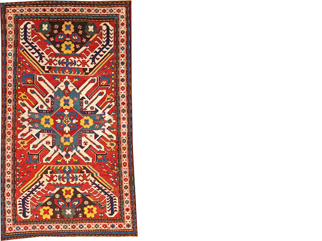 An Eagle Kazak rug  Caucasus size approximately 4ft. 2in. x 7ft. 6in.