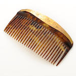 A 14k gold and tortoise hair comb