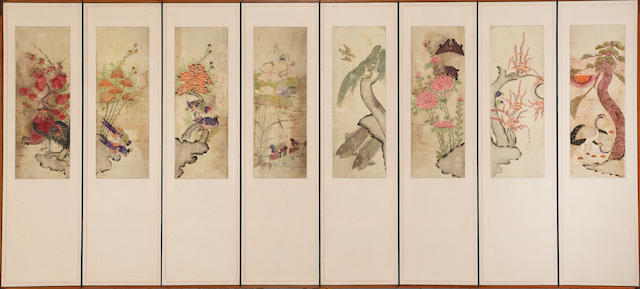 Anonymous (19th/20th century) Flowers and birds, hwacho