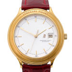 Audemars Piguet. A fine 18K gold automatic center seconds wristwatch with dateHuitième, Ref:14593 BA, Case No. C74415, Movement no. 347257, 1990's