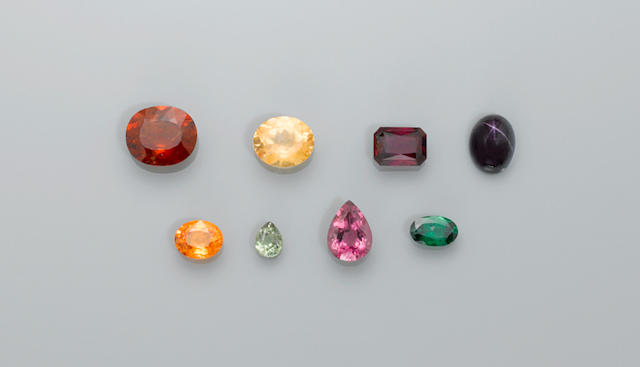 Group of Eight Garnets