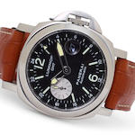 Panerai. A fine stainless steel automatic dual time diver's wristwatch with dateLuminor GMT – Ocean Chronometer, Ref:OP 6554, No. E1562 / 3000, case no. BB1076509