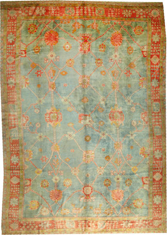 An Oushak carpet (carpet is cut and reduced) West Anatolia size approximately 12ft. x 17ft. 6in.