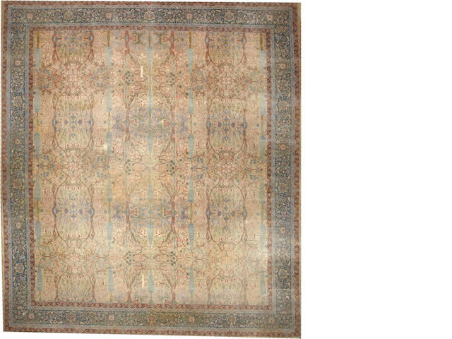 A Tabriz carpet  Northwest Persia size approximately 13ft. 4in. x 14ft. 9in.
