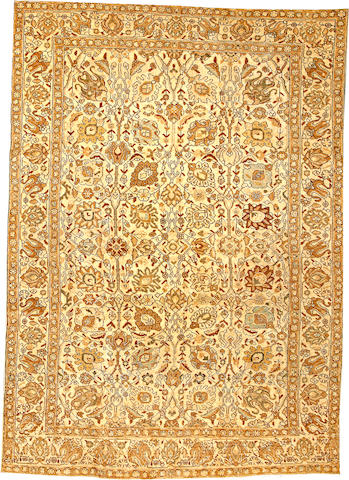 A Tabriz carpet  Northwest Persia size approximately 7ft. x 10ft.