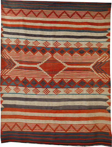 A large and unusual Navajo weaving