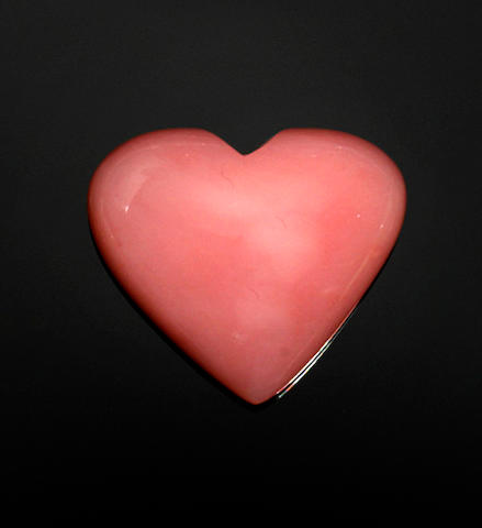 Heart-shaped Pink Opal