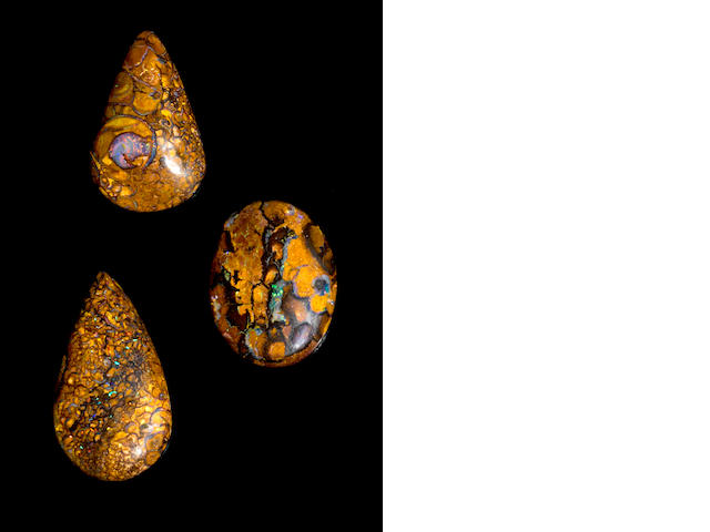 "Three Boulder Opals--""Yowah Nuts"""
