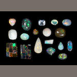 Group of Sixteen Assorted Opals from World Localities
