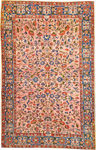 A Kashan rug Central Persia size approximately 4ft. 2in. x 6ft. 7in.